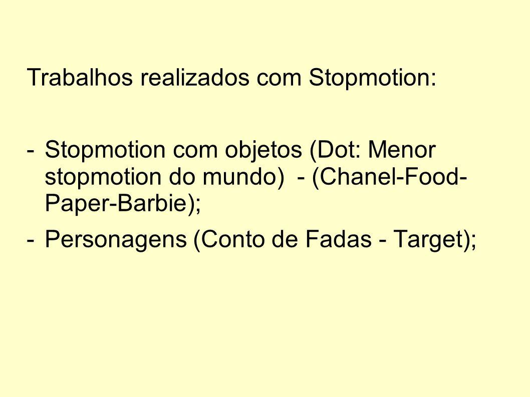 Trabalhos realizados com Stopmotion: