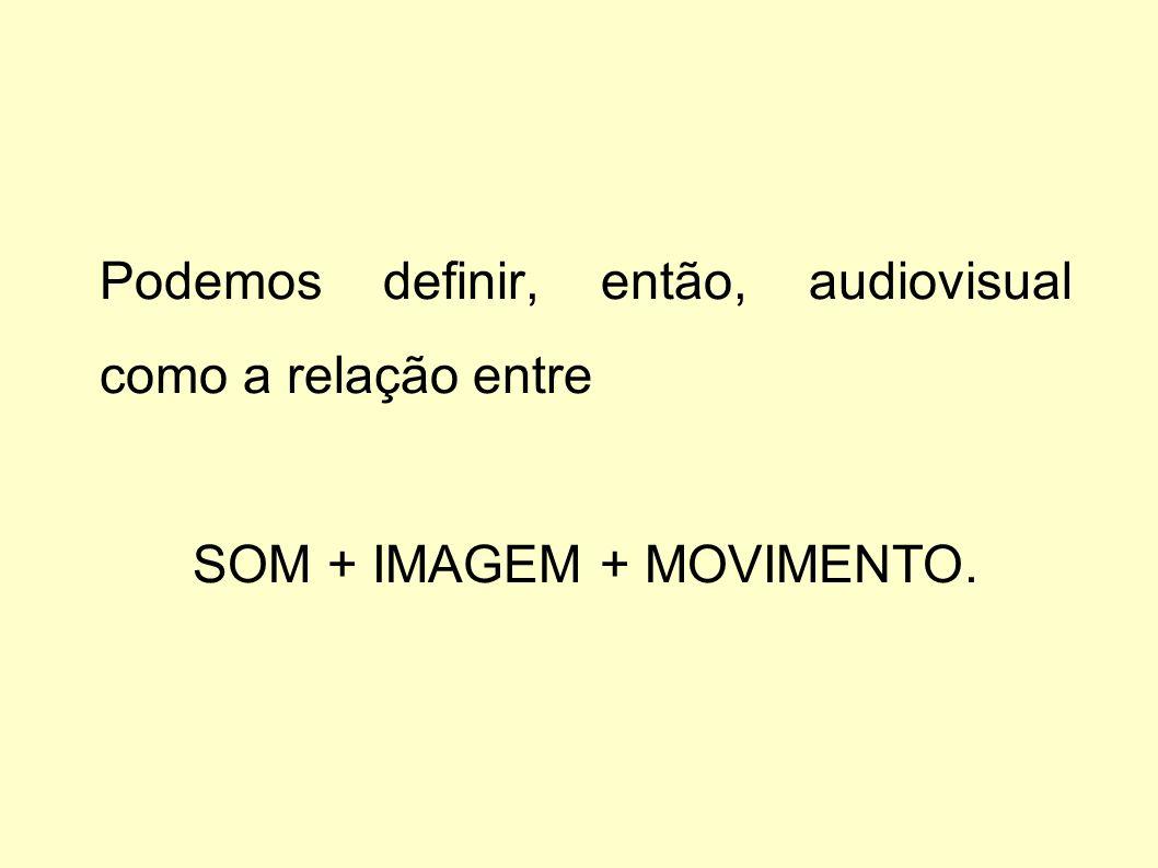 SOM + IMAGEM + MOVIMENTO.