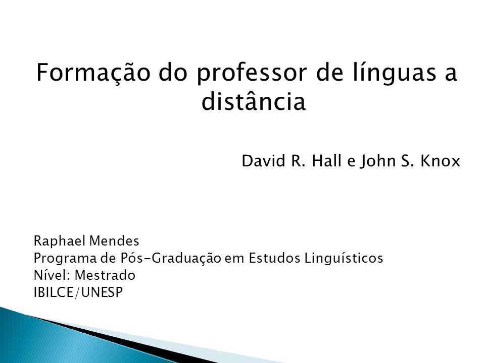 Formação do professor de línguas a distância