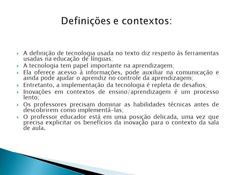 Definições e contextos:
