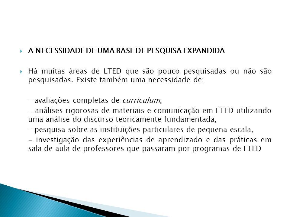 A NECESSIDADE DE UMA BASE DE PESQUISA EXPANDIDA