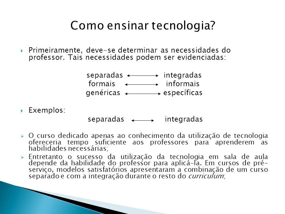 Como ensinar tecnologia