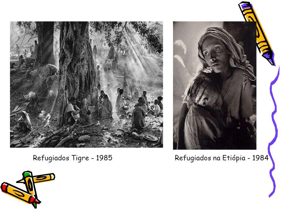 Refugiados Tigre - 1985 Refugiados na Etiópia - 1984
