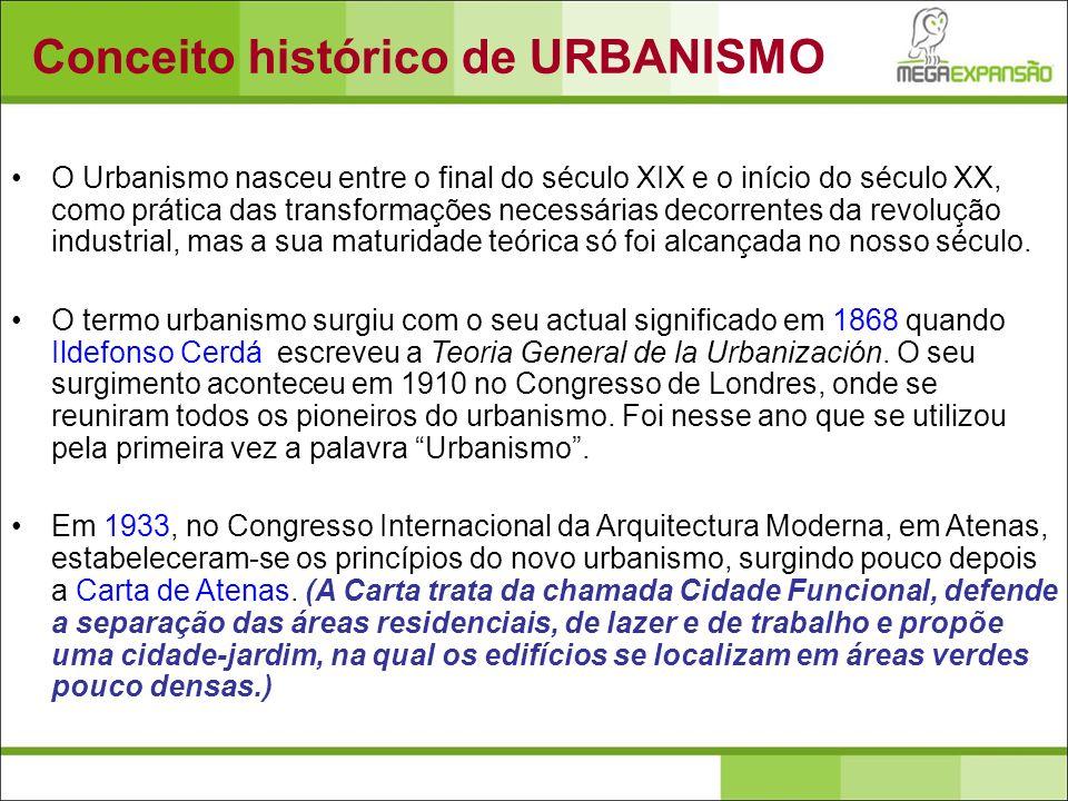Conceito histórico de URBANISMO