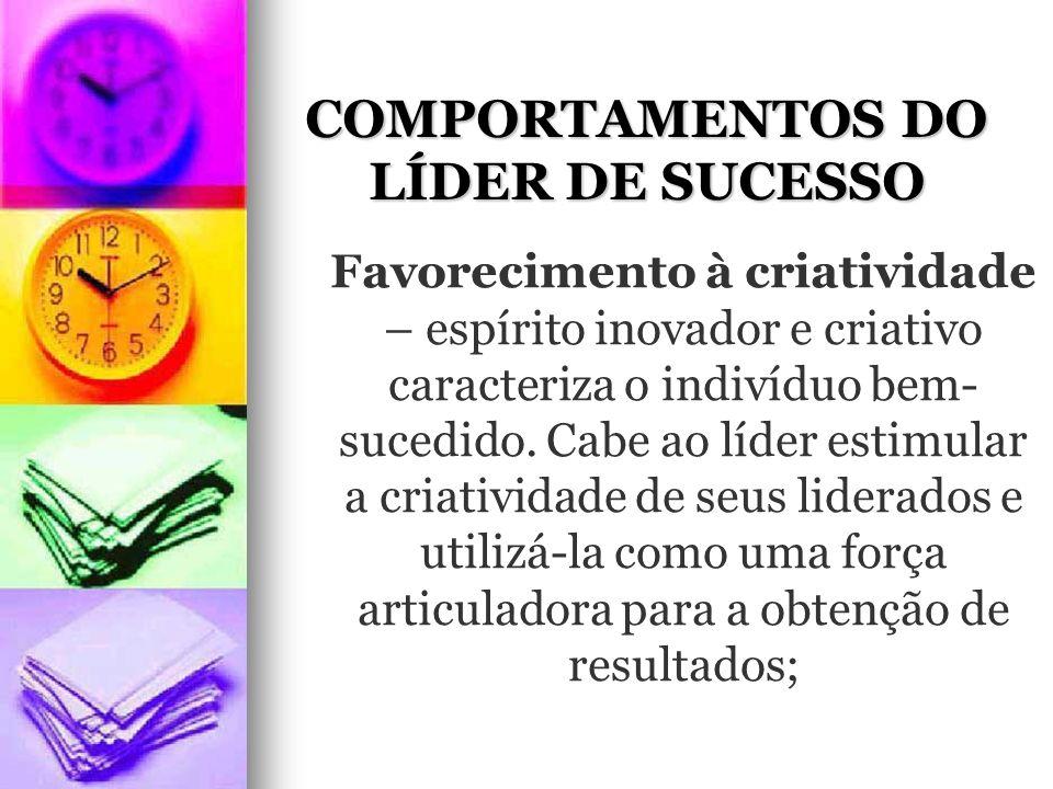 COMPORTAMENTOS DO LÍDER DE SUCESSO