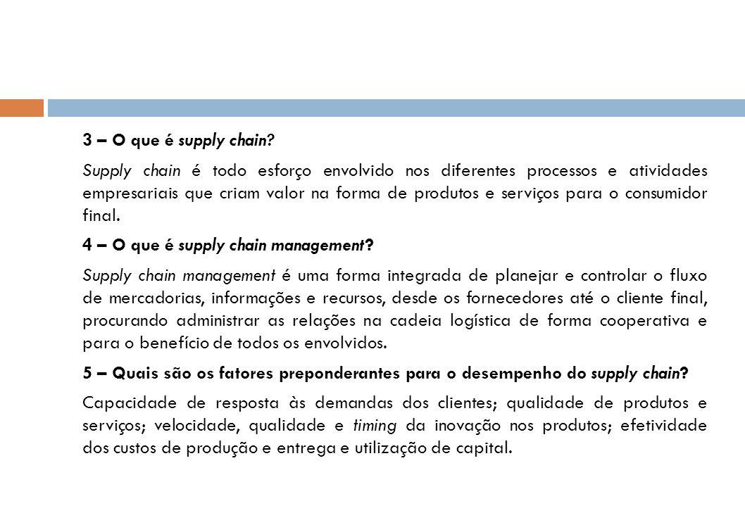 3 – O que é supply chain.