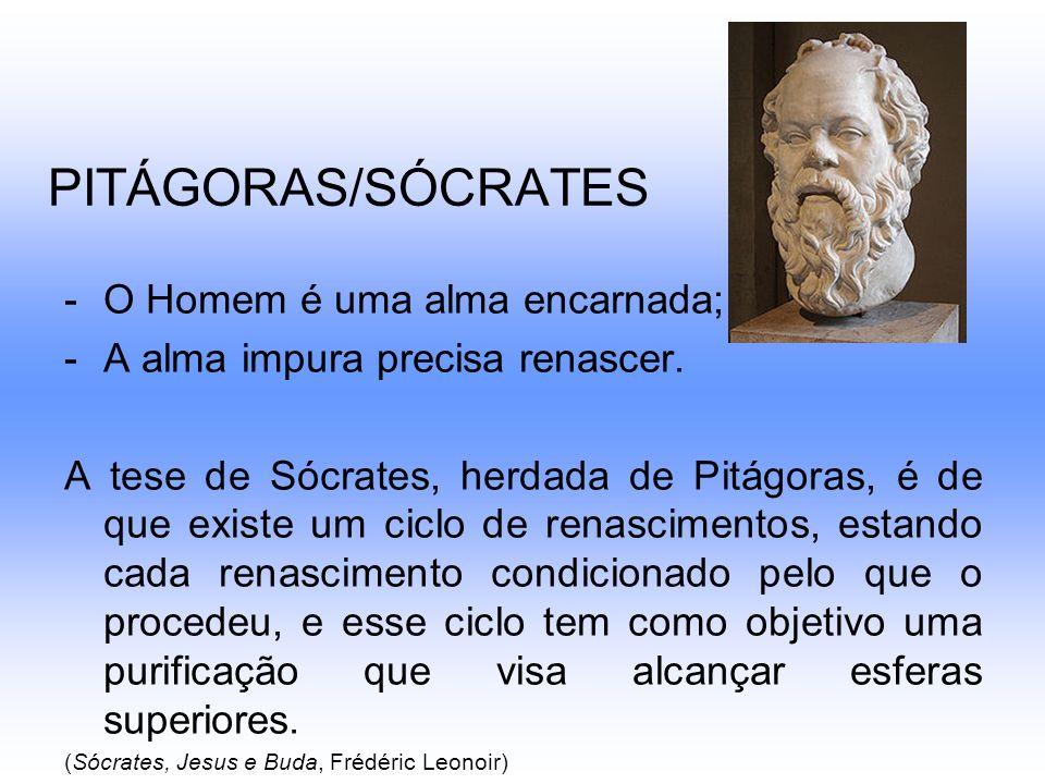 PITÁGORAS/SÓCRATES O Homem é uma alma encarnada;