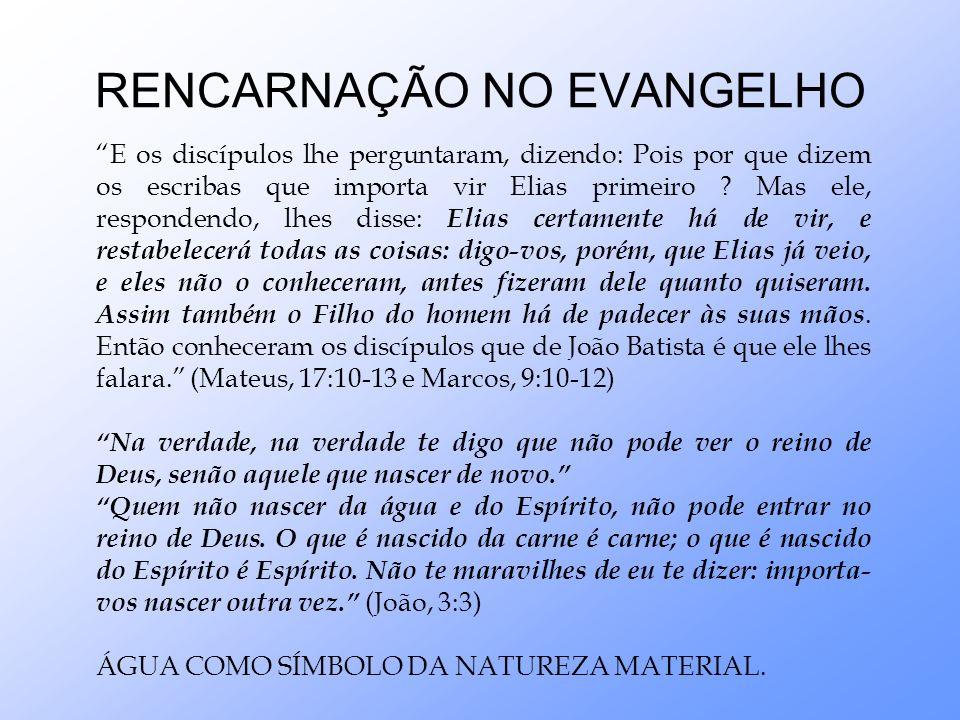 RENCARNAÇÃO NO EVANGELHO