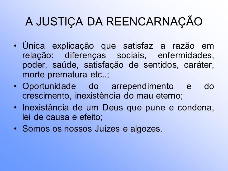 A JUSTIÇA DA REENCARNAÇÃO