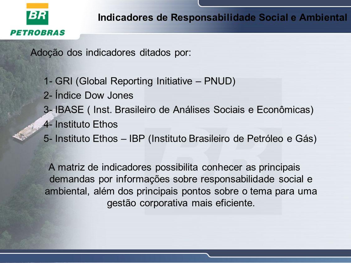 Indicadores de Responsabilidade Social e Ambiental