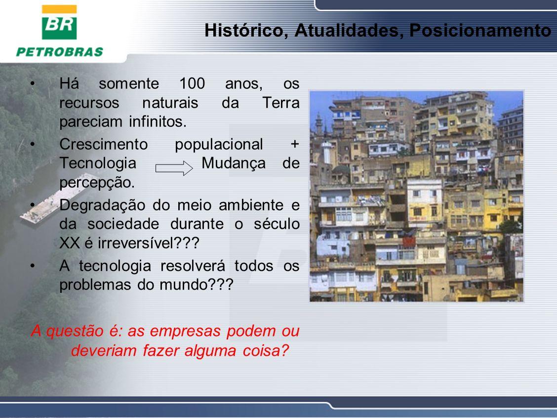 Histórico, Atualidades, Posicionamento