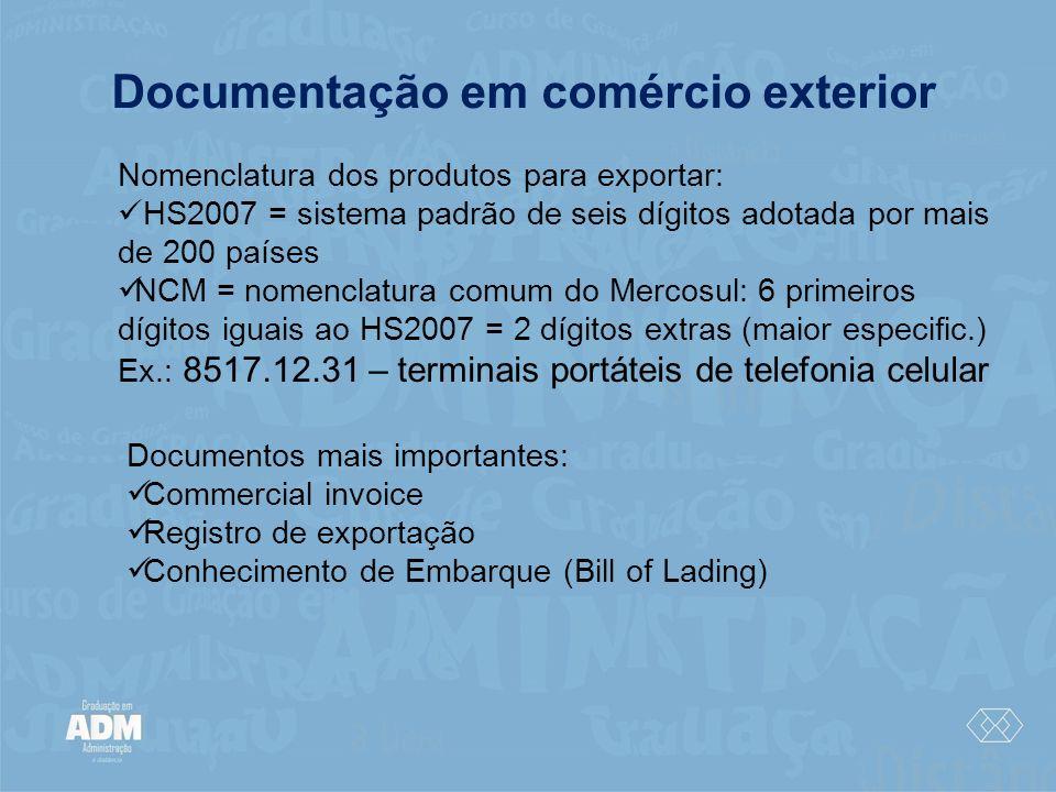 Documentação em comércio exterior
