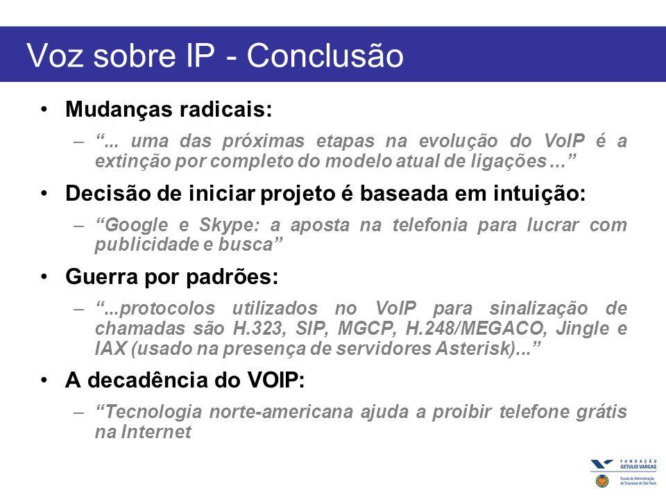 Voz sobre IP - Conclusão