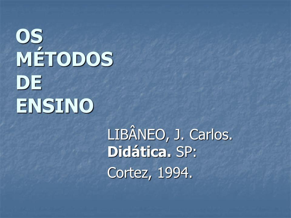 LIBÂNEO, J. Carlos. Didática. SP: Cortez, 1994.