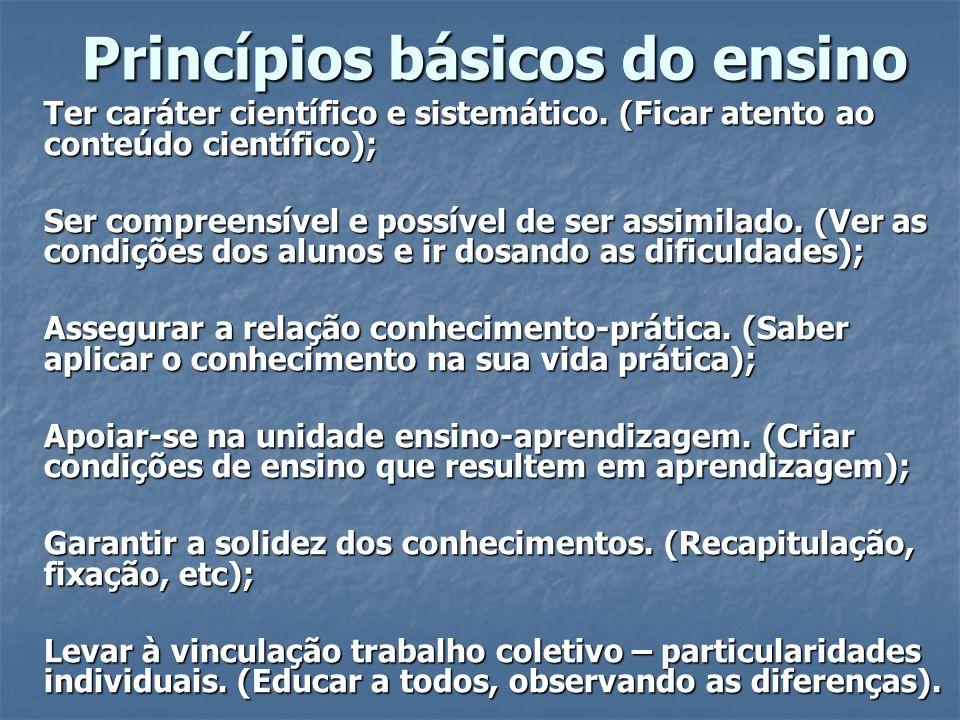 Princípios básicos do ensino