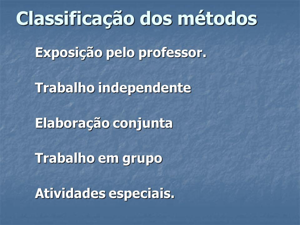 Classificação dos métodos