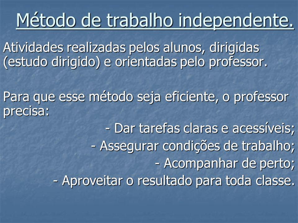 Método de trabalho independente.
