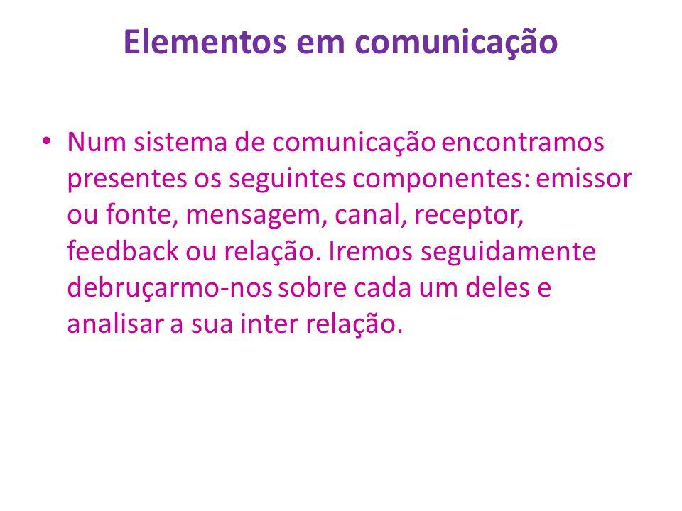 Elementos em comunicação