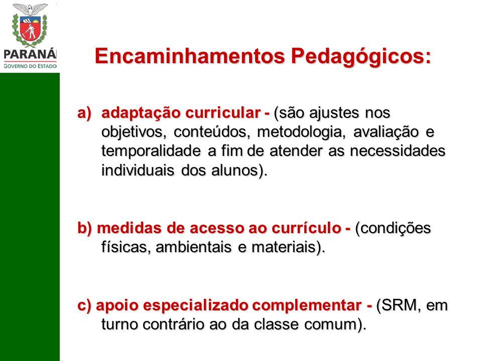 Encaminhamentos Pedagógicos: