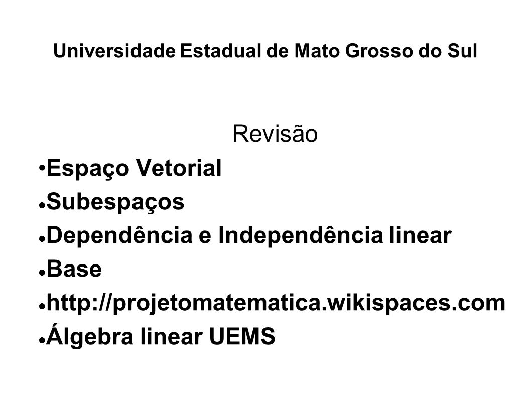 Universidade Estadual de Mato Grosso do Sul
