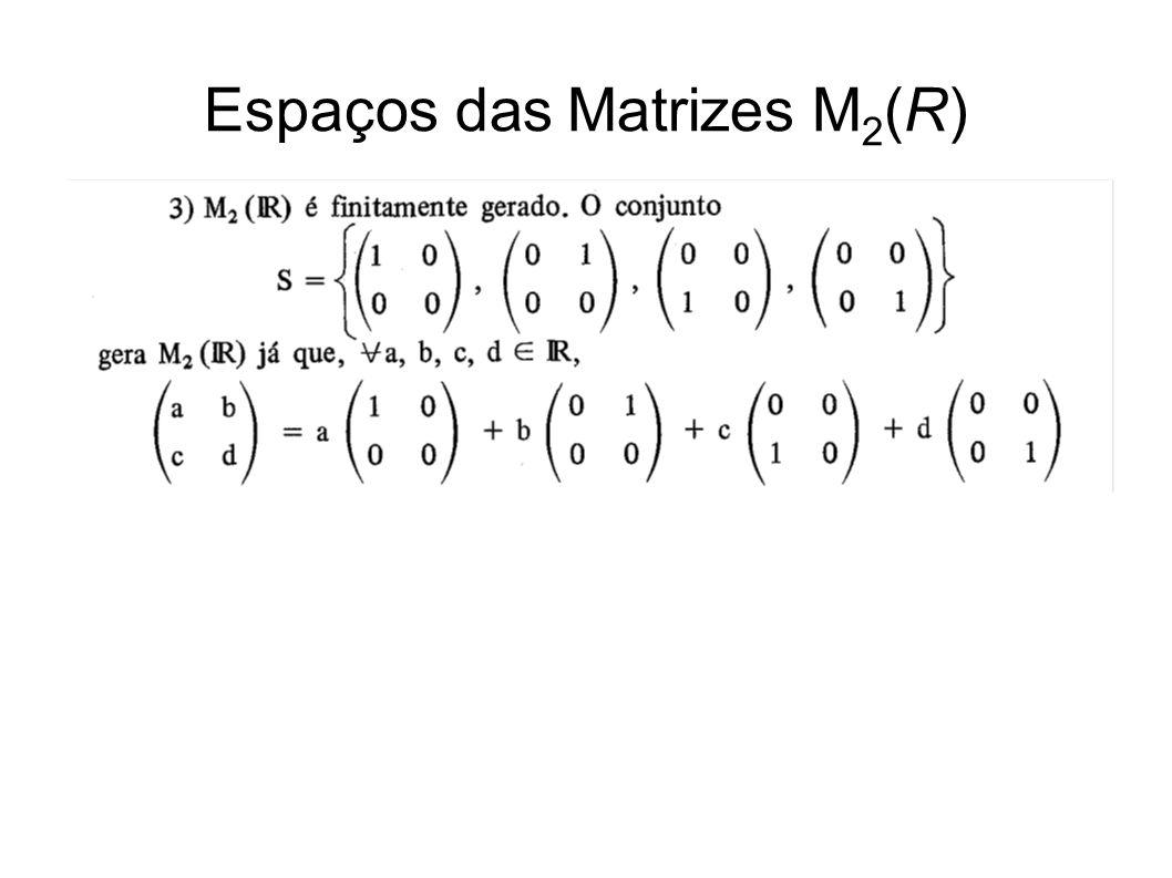Espaços das Matrizes M2(R)