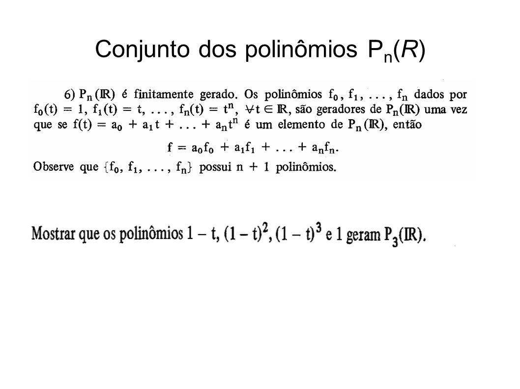 Conjunto dos polinômios Pn(R)