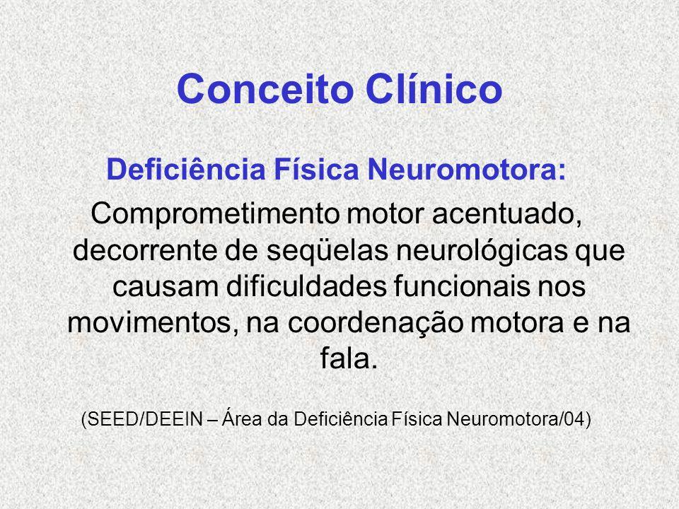 Deficiência Física Neuromotora: