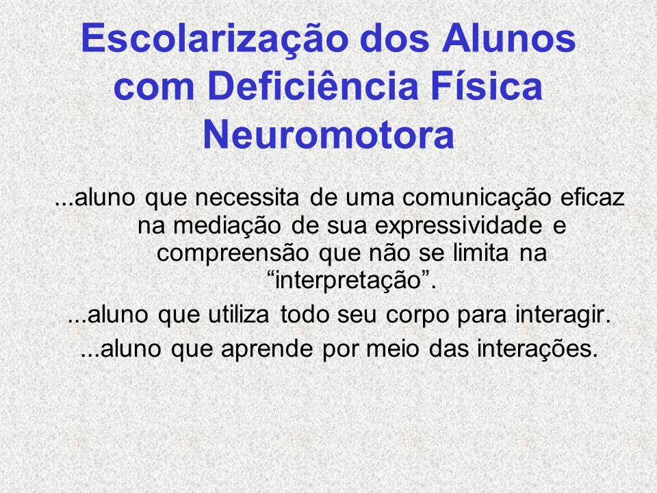 Escolarização dos Alunos com Deficiência Física Neuromotora