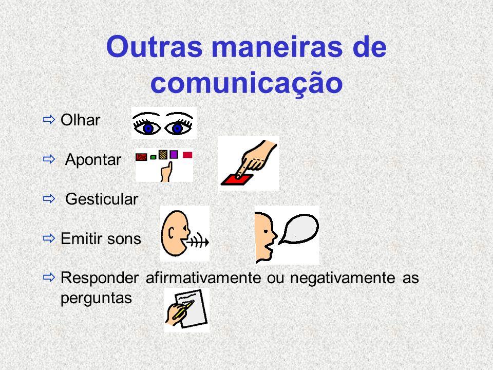 Outras maneiras de comunicação