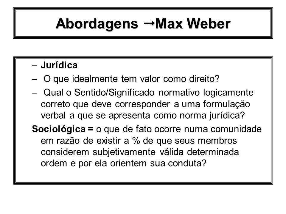 Abordagens  Max Weber Jurídica
