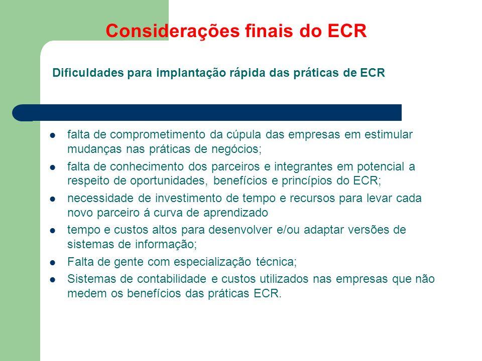 Considerações finais do ECR