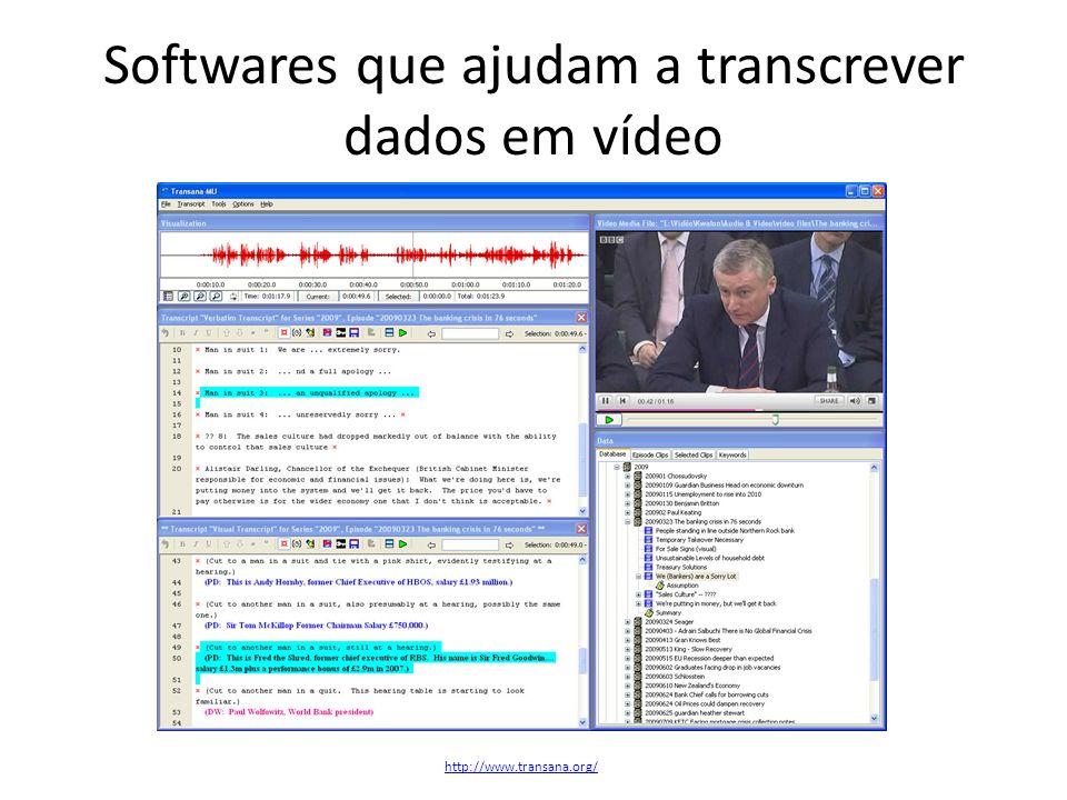 Softwares que ajudam a transcrever dados em vídeo