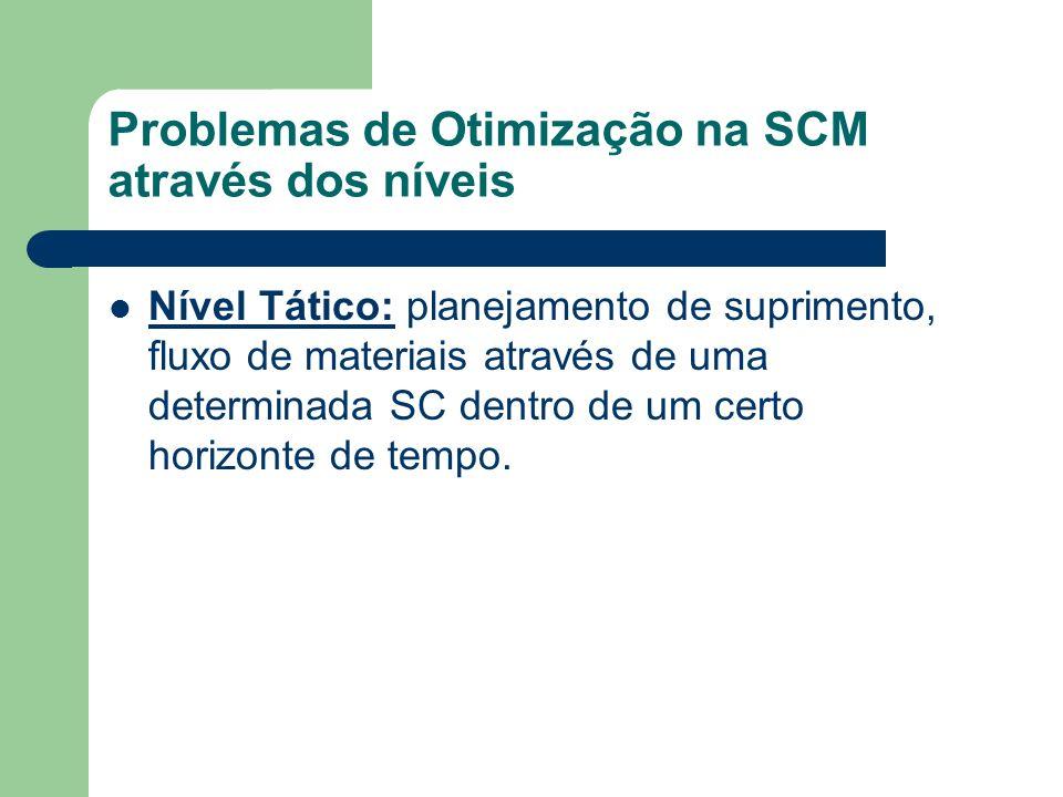 Problemas de Otimização na SCM através dos níveis
