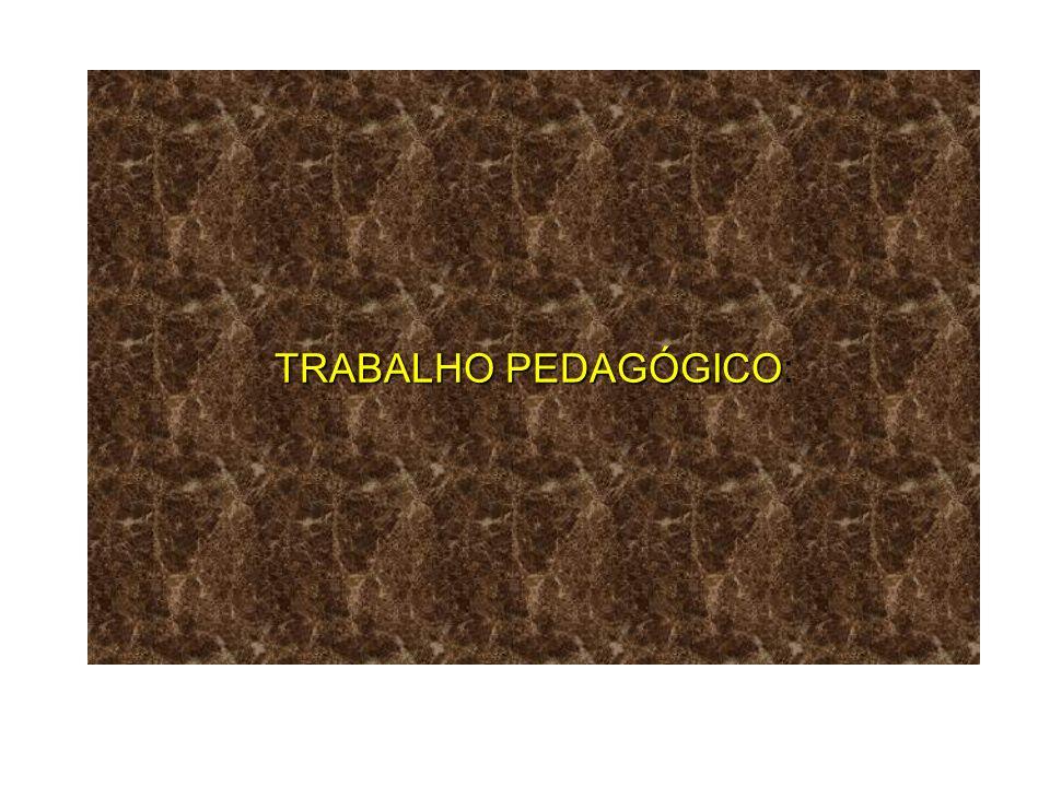 TRABALHO PEDAGÓGICO: