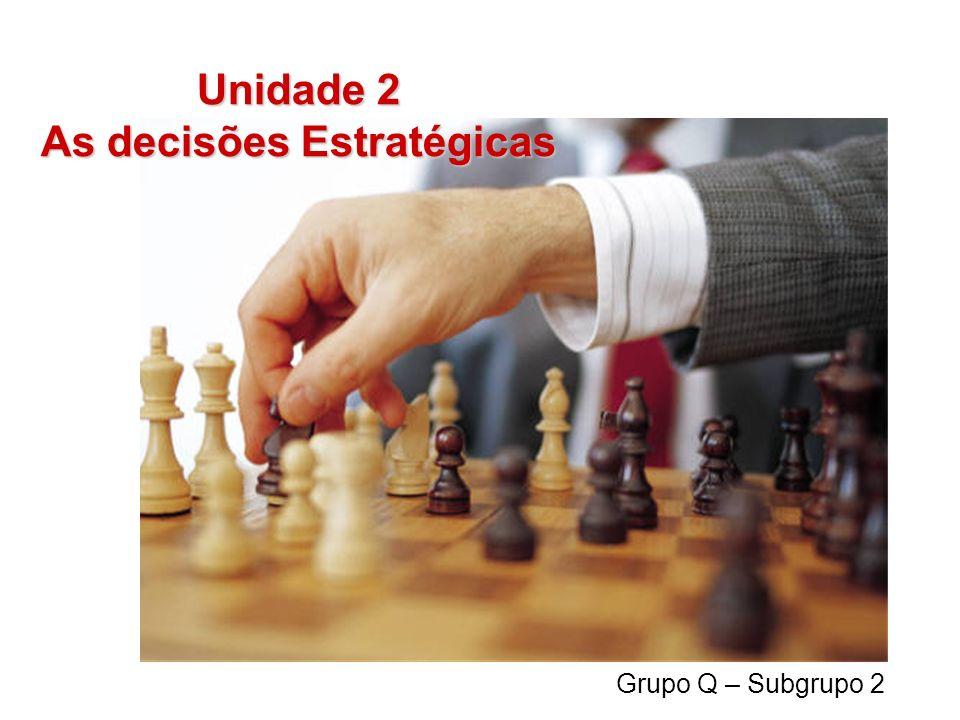 Unidade 2 As decisões Estratégicas