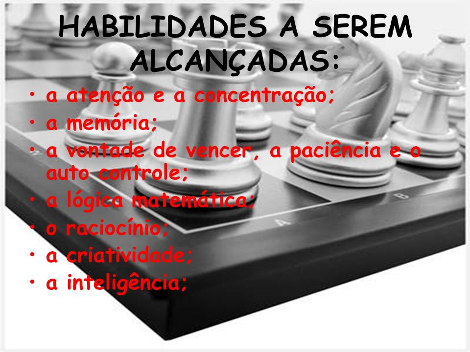 HABILIDADES A SEREM ALCANÇADAS: