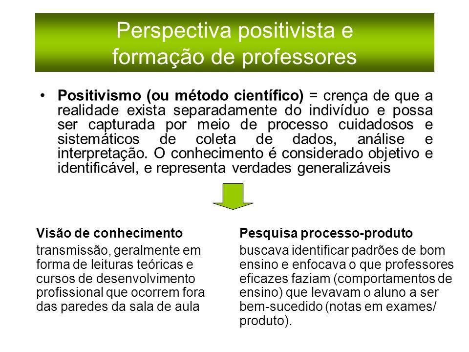 Perspectiva positivista e formação de professores