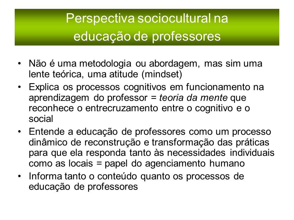 Perspectiva sociocultural na educação de professores
