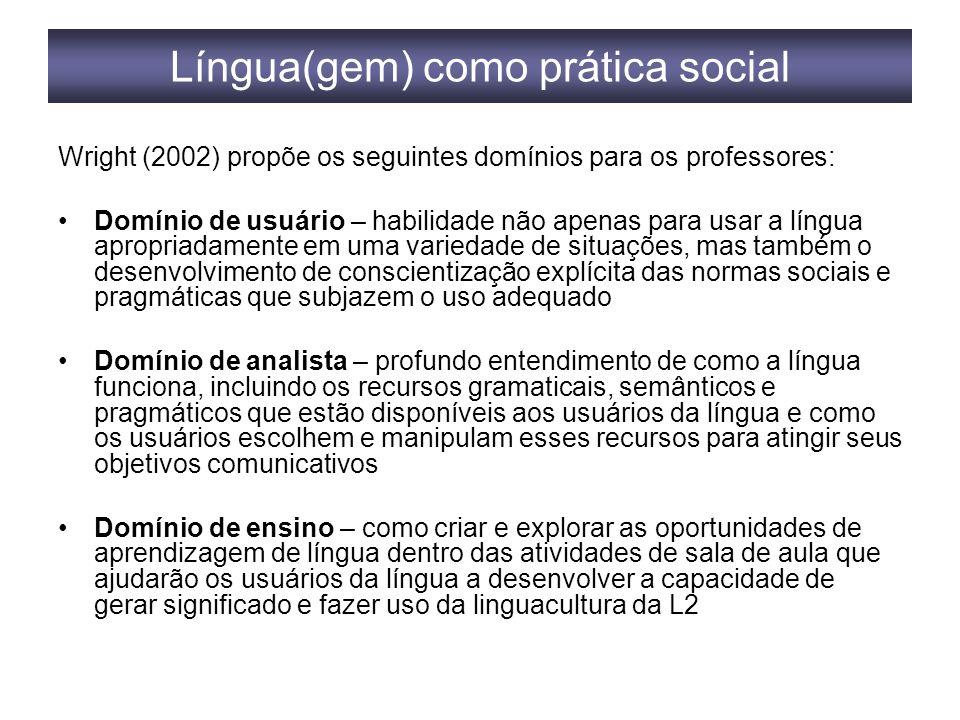 Língua(gem) como prática social