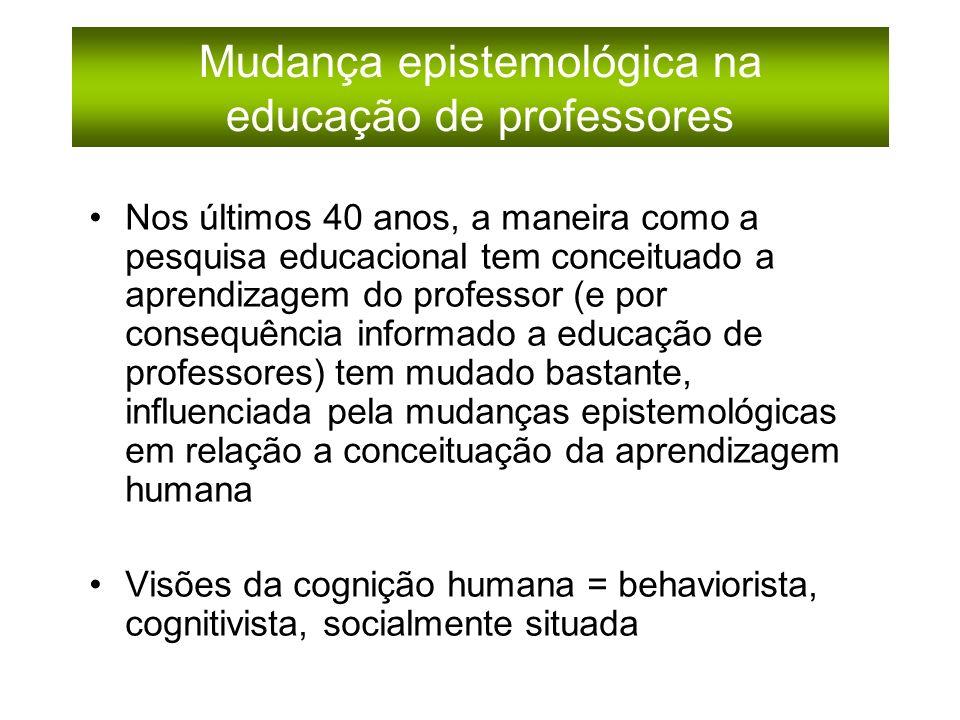 Mudança epistemológica na educação de professores