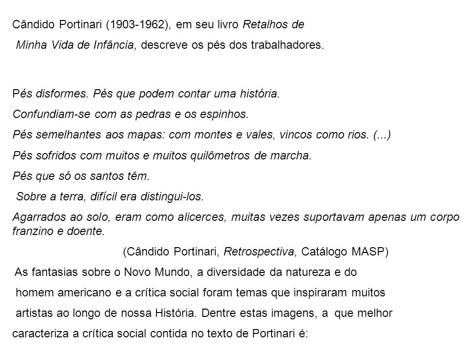 Cândido Portinari (1903-1962), em seu livro Retalhos de
