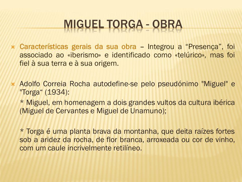 MIGUEL TORGA - OBRA