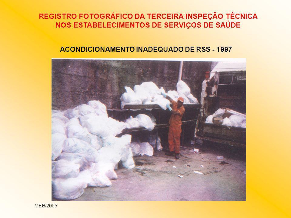 ACONDICIONAMENTO INADEQUADO DE RSS - 1997