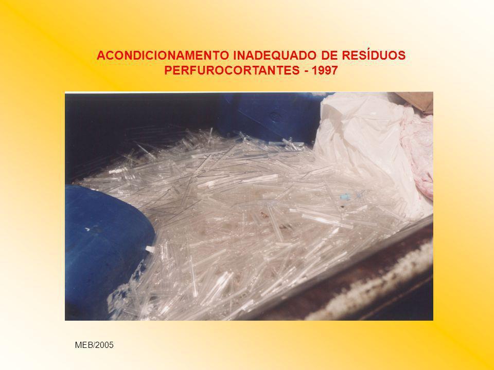 ACONDICIONAMENTO INADEQUADO DE RESÍDUOS PERFUROCORTANTES - 1997
