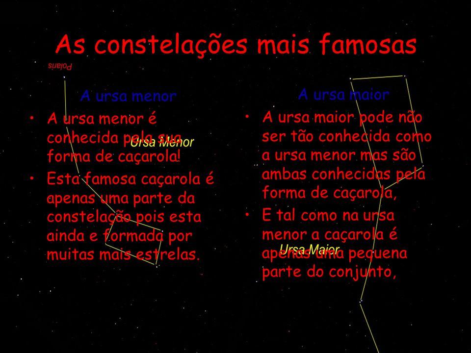 As constelações mais famosas
