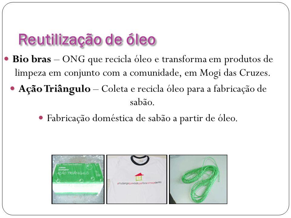 Reutilização de óleo Bio bras – ONG que recicla óleo e transforma em produtos de limpeza em conjunto com a comunidade, em Mogi das Cruzes.