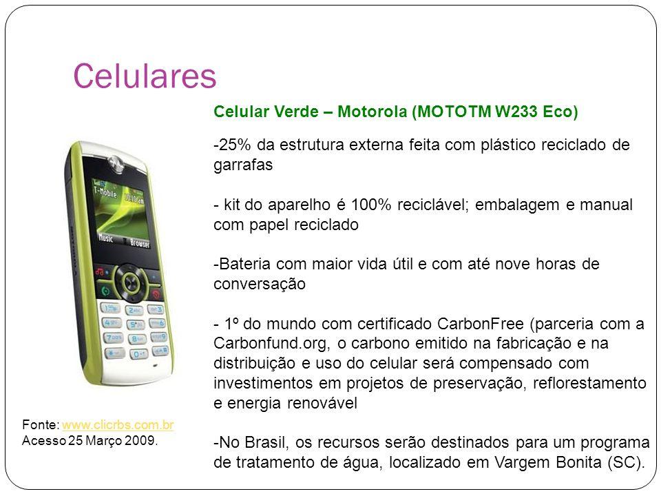 Celulares Celular Verde – Motorola (MOTOTM W233 Eco)