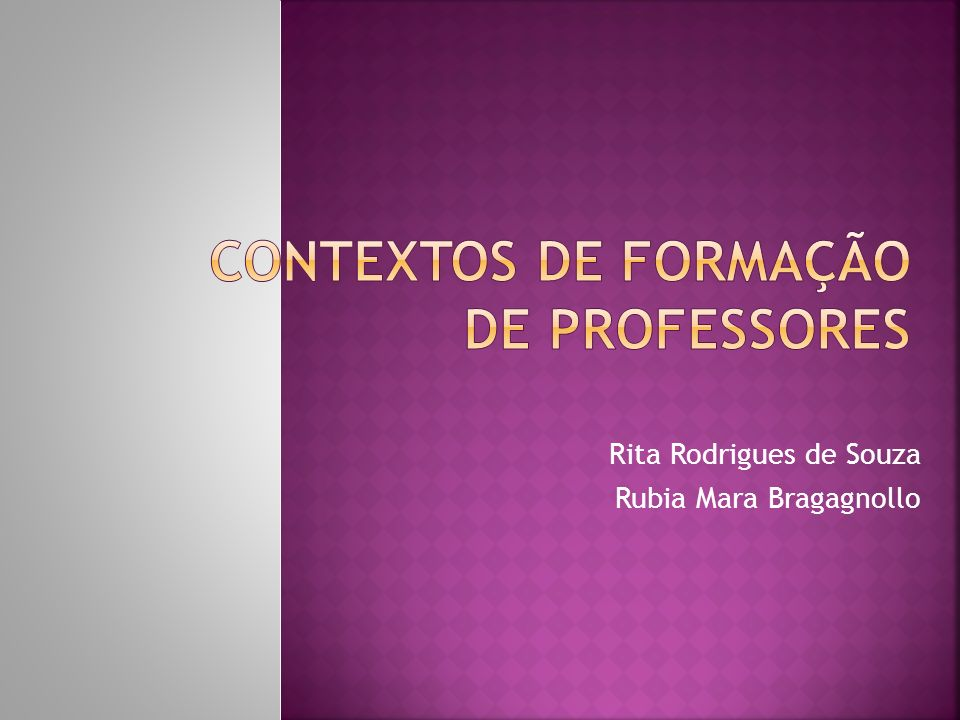 Contextos de formação de Professores