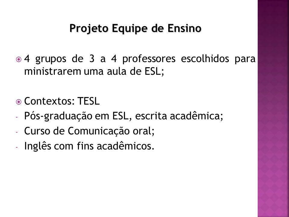 Projeto Equipe de Ensino