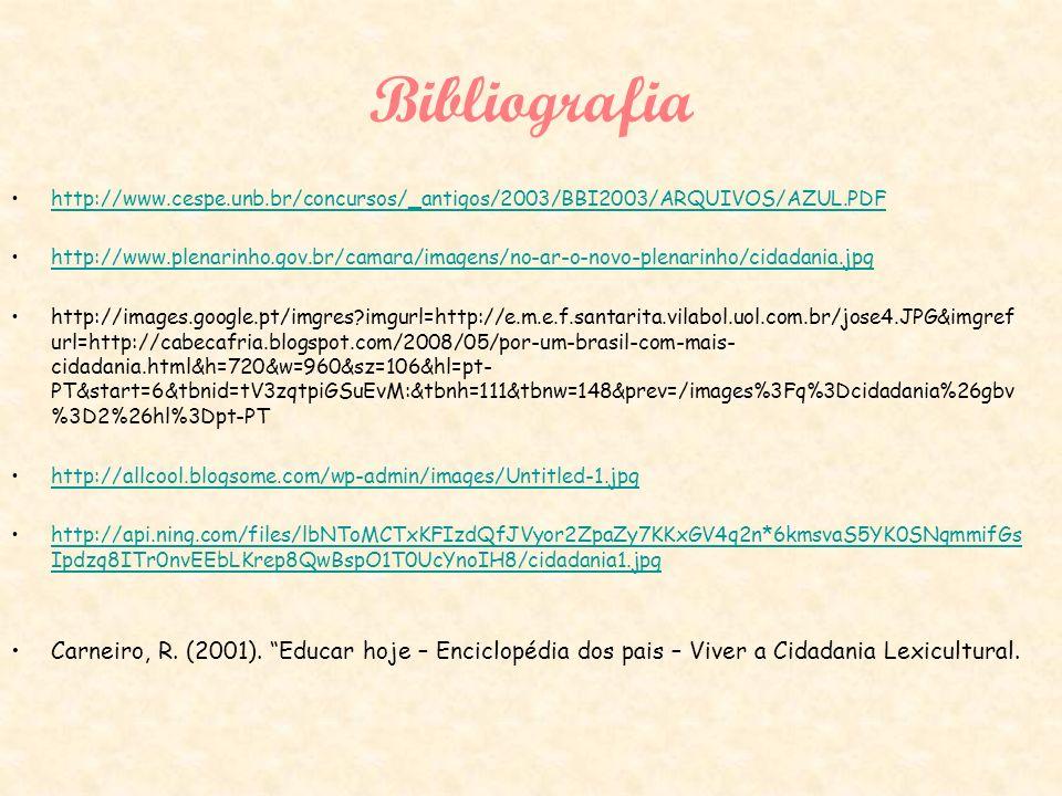Bibliografia http://www.cespe.unb.br/concursos/_antigos/2003/BBI2003/ARQUIVOS/AZUL.PDF.